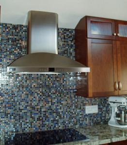 Glass Mosaic Tile Backsplash=Function and beauty